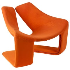 "Kwok Hoï Chan, ""Zen"" Armchair in Foam and Orange Fabric, 1969"