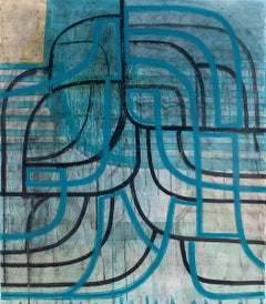 """Ky Anderson """"Net Vision 20.2"""" - Acrylic and ink painting on paper"""