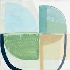 """Ky Anderson """"Shield 19.13"""" - Abstract Painting on Paper"""