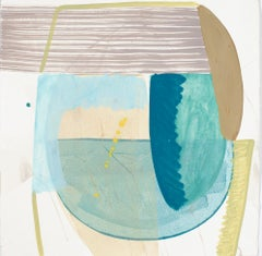 """Ky Anderson """"Shield 19.15"""" - Abstract Painting on Paper"""
