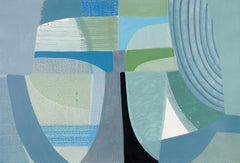 """Ky Anderson """"Sightline 19.5"""" Abstract Painting on Paper"""
