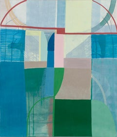 """Ky Anderson """"UFO (sloppy)"""" Large Abstract Painting on Paper"""