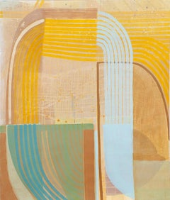 """Ky Anderson """"Waterfall"""" Large Abstract Painting on Paper"""