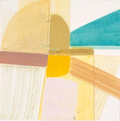 """Ky Anderson """"Shield 19.11"""" -- Abstract Painting on Paper"""