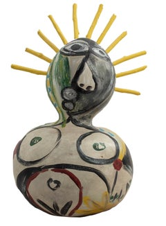 """""""Homage to Picasso,"""" Acrylic on Gourd signed by Kyle Zubatsky"""