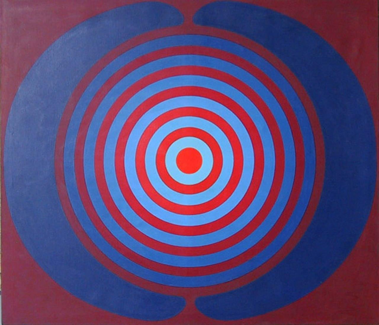 Target, Large Geometric Painting by Kyohei Inukai 1968