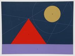 """Shadow Lines"" Geometric Serigraph by Kyohei Inukai (aka Earle Goodenow)"