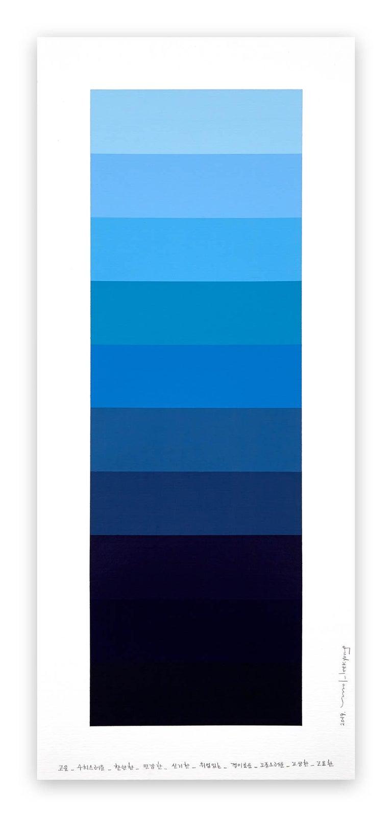 Kyong Lee Abstract Drawing - Emotional Color Chart 099