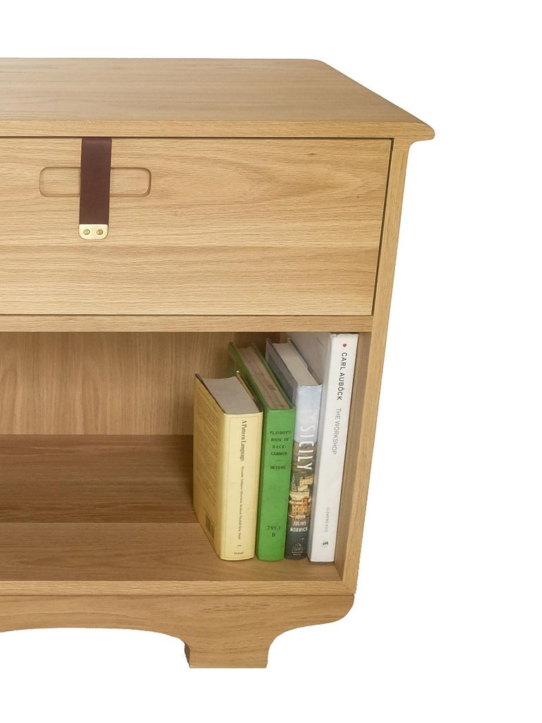 Nightstand Table: Kyoto Bedside Table Or Nightstand With Drawer, White Oak