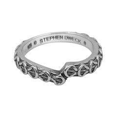 Kyoto Engraved Sterling Siver Band