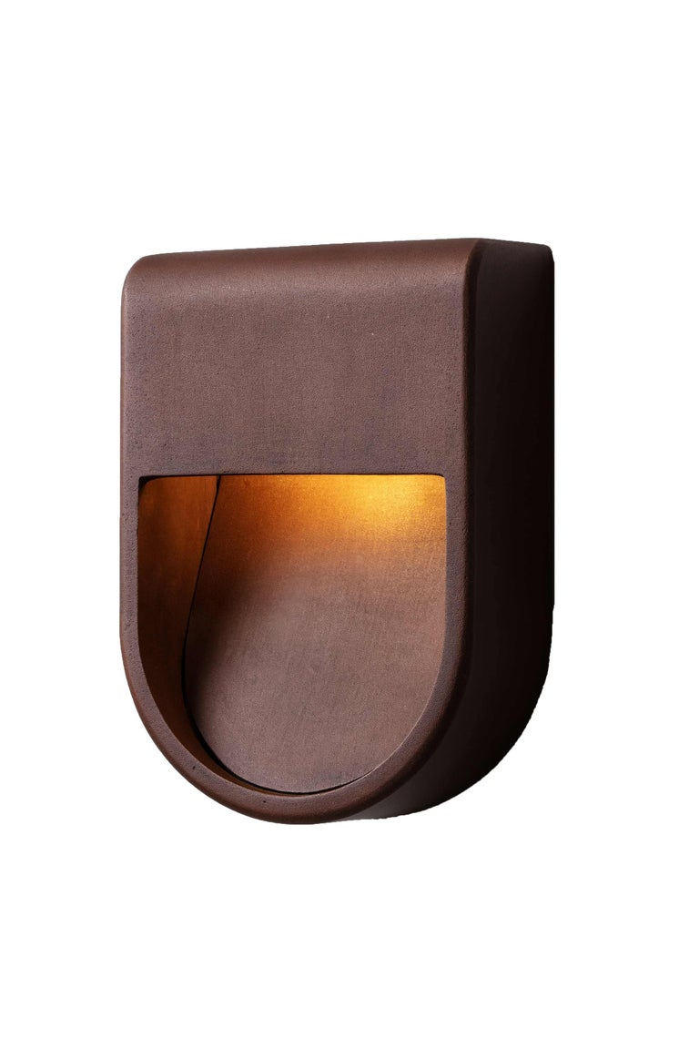 Kyoto Indoor Outdoor Led Cast Sconce Plated Brass Size Wide Wet Rated Light For Sale 5