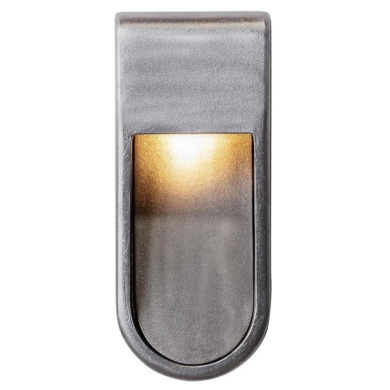 Kyoto Indoor Outdoor Led Cast Sconce Plated Brass Size Wide Wet Rated Light For Sale 1