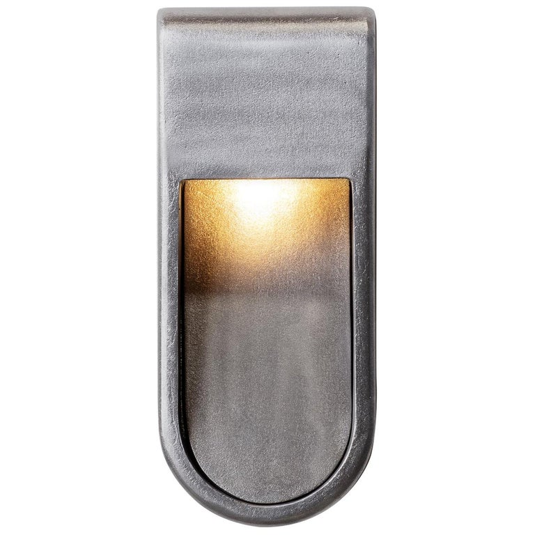 Kyoto Indoor Outdoor LED Sconce Poured Aluminum Size Long Wet Rated Light For Sale