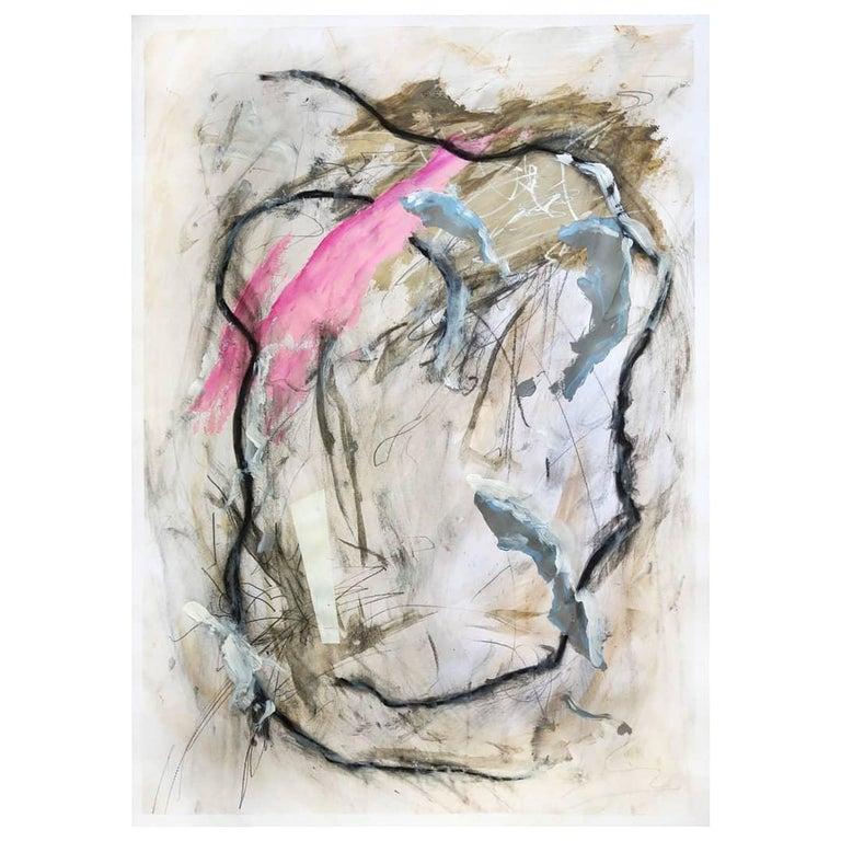 Kyte Tatt - Original Painting - Gray Abstract Painting by Kyte Tatt