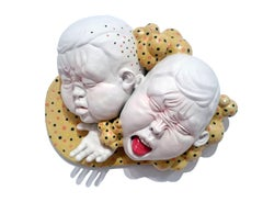 """The Distance Between Us"", Contemporary Porcelain Ceramic Sculpture with Glaze"