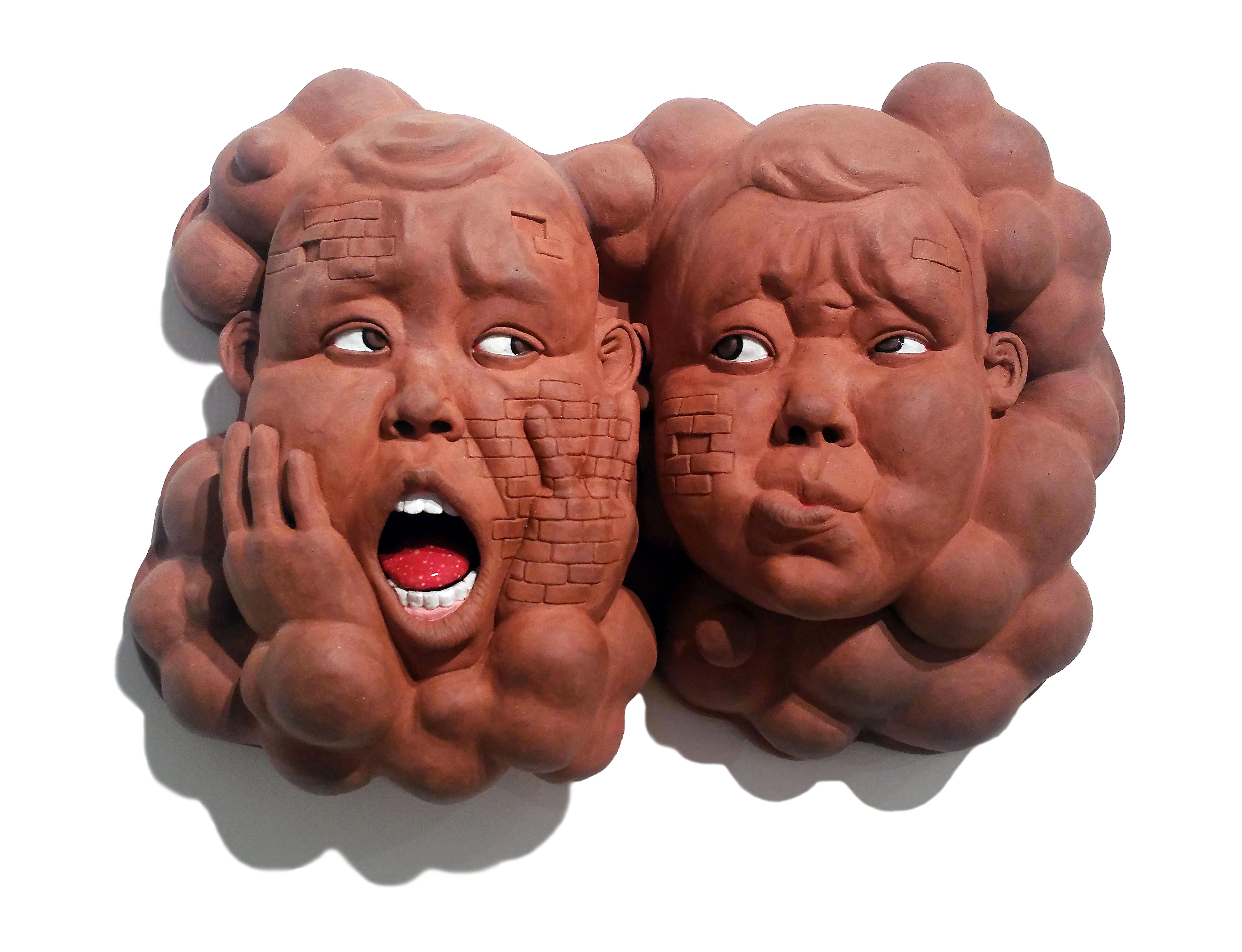 """When Your Mind is Elsewhere"", Contemporary, Ceramic, Sculpture, Glaze, Figure"