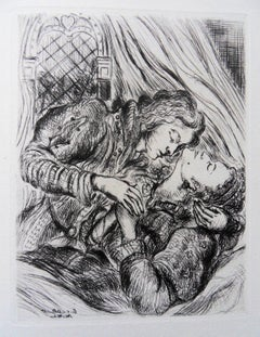 Lovers - Original etching, 1943