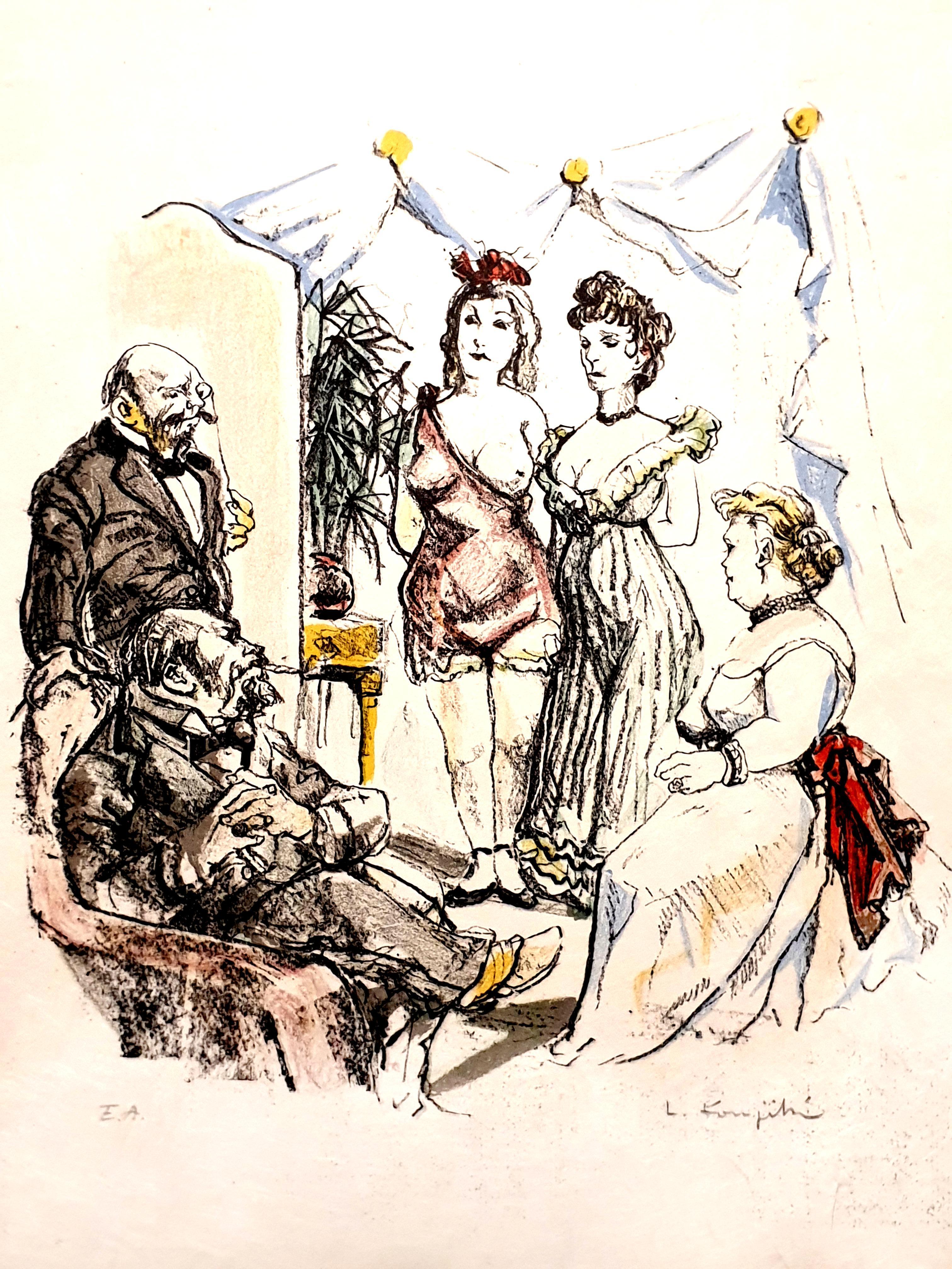Leonard Foujita - House of Delights - Original Signed Lithograph