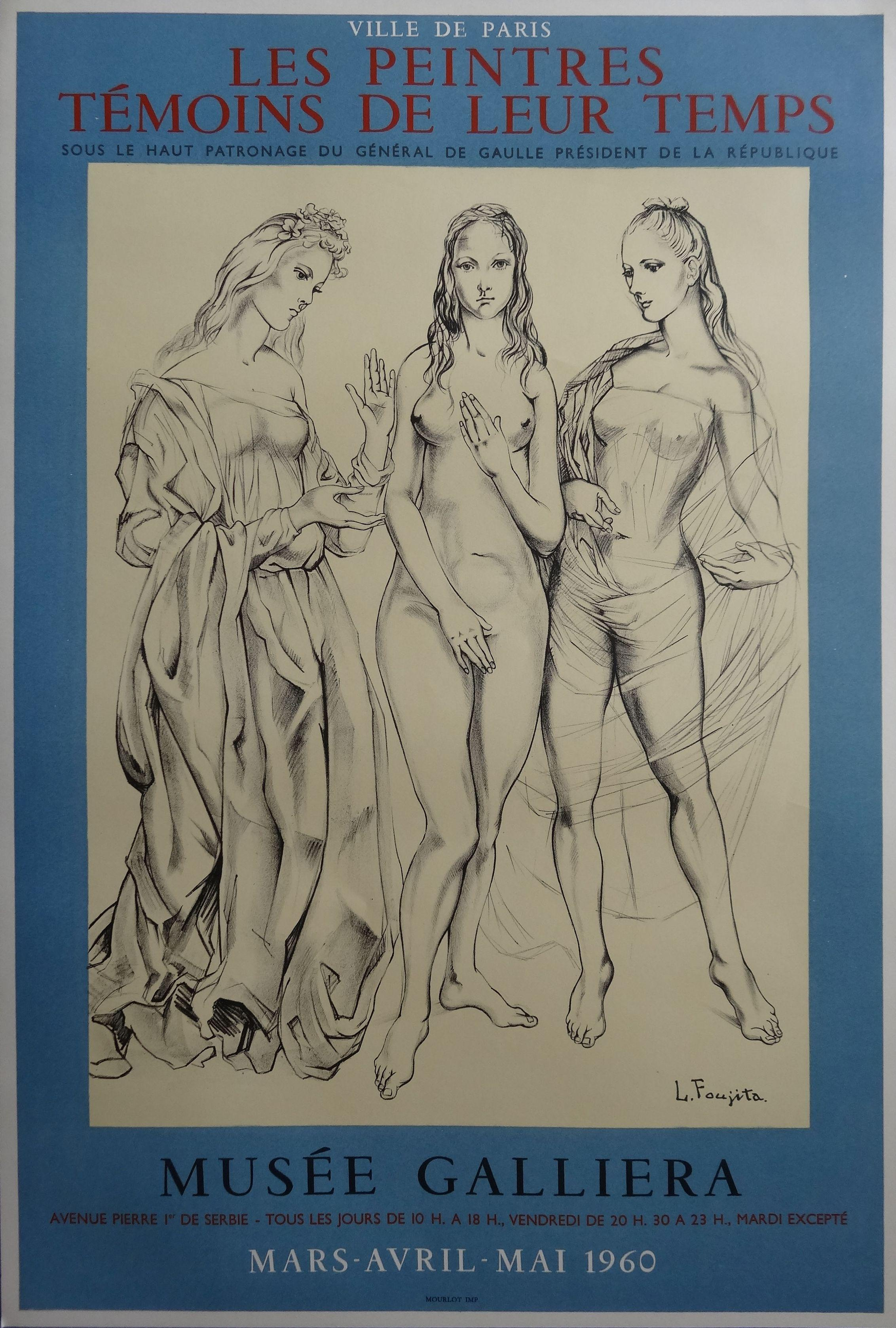 Three Graces - Original lithograph poster - 1960 ( Buisson #60.28)
