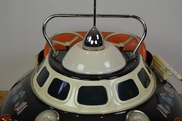 Belgian L' Autopède Ufo Carnival Ride Seat, Space Age, Belgium, Late 1950s