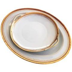 L. Bernardaud & Co Porcelain dinnerware Service, 46 items, Limoges, circa 1960s'