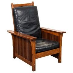 """L & JG Stickley """"Model #367"""" Spindle Morris Chair"""