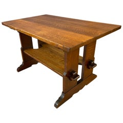 L & J.G. Stickley Trestle Library Table