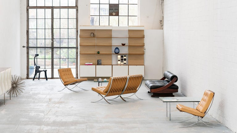 L. Mies van der Rohe, 3 Barcelona Chair, 1962 Edition by Knoll International For Sale 3