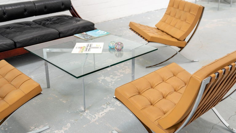 L. Mies van der Rohe, 3 Barcelona Chair, 1962 Edition by Knoll International For Sale 13