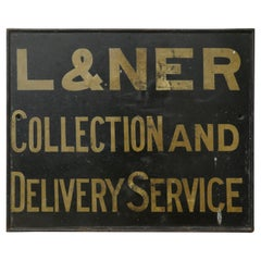 L & N E R Wooden Railway Sign