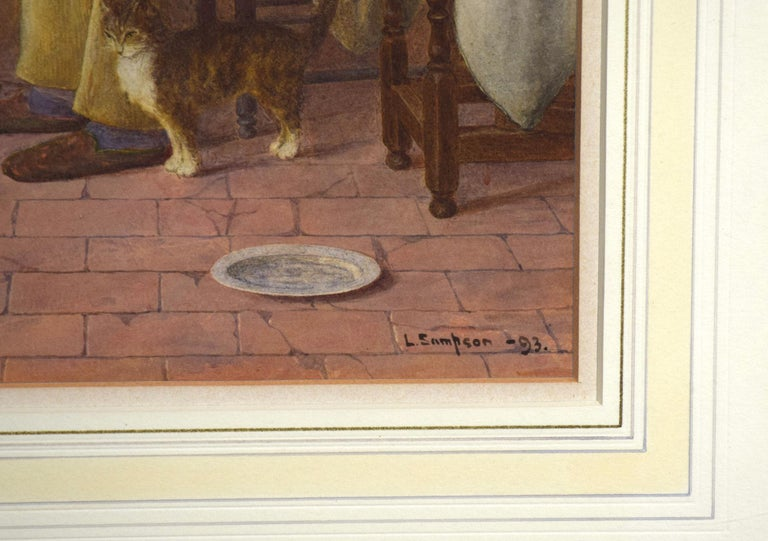 British L Sampson Signed Watercolor For Sale