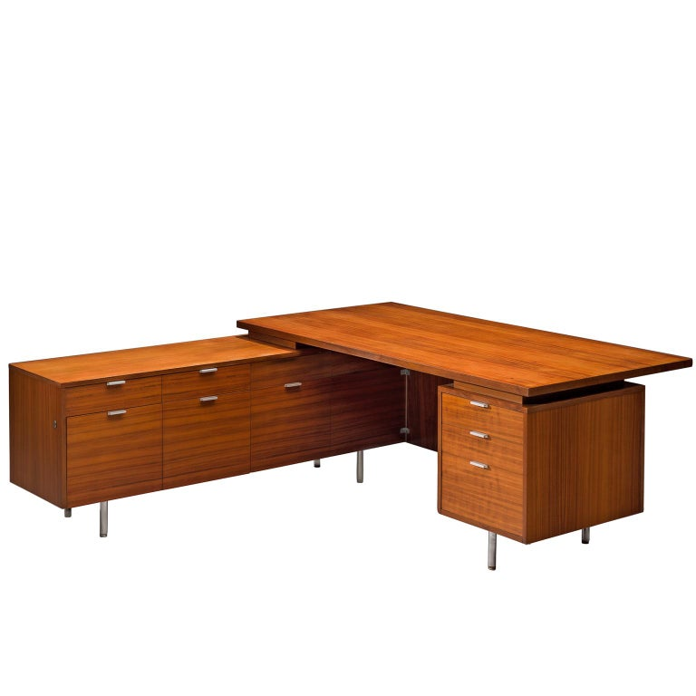 George Nelson L-shaped desk, 1960s, offered by MORENTZ