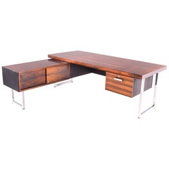 L-Shaped Desk in Rosewood by Gordon Russell