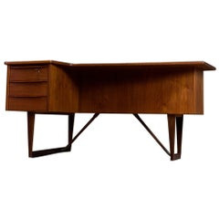 L shaped Teak Desk by Peter Løvig Nielsen Scandinavian Modern Design, 1960s