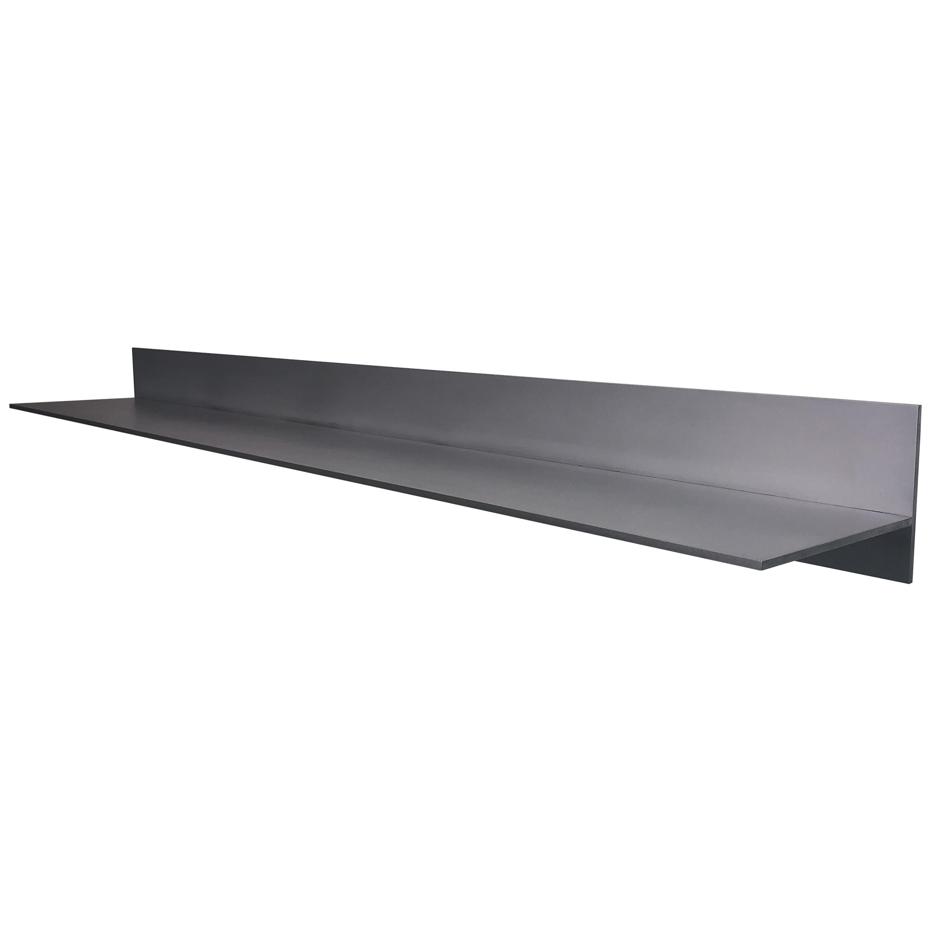 L-Wall Shelf in Waxed and Polished Aluminum Plate by Jonathan Nesci
