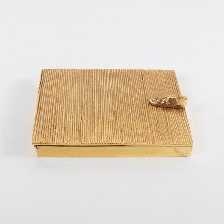Mid-Century Modern La Balayeuse Du Sacré-cœur, Gilded Bronze Powder Compact, Line Vautrin, 'France' For Sale
