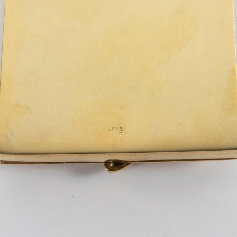 Silvered La Balayeuse Du Sacré-cœur, Gilded Bronze Powder Compact, Line Vautrin, 'France' For Sale