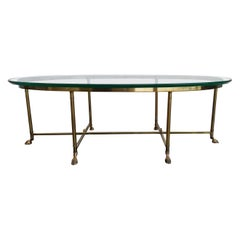 La Barge Brass & Glass Coffee Table