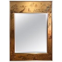 La Barge Églomisé Wall Mirror