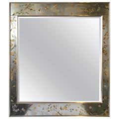 La Barge Floral Silver Leaf Mirror