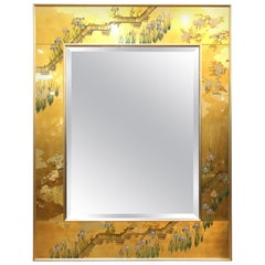 La Barge Hollywood Regency Chinoiserie Style Eglomise Mirror