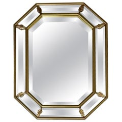 La Barge Octagonal Art Deco Style Beveled Mirror