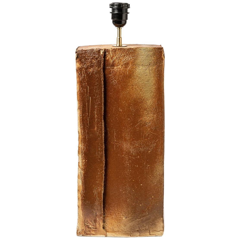 La Borne 20th Mid Century Brown Stoneware Ceramic Table Lamp 1980 Lighting