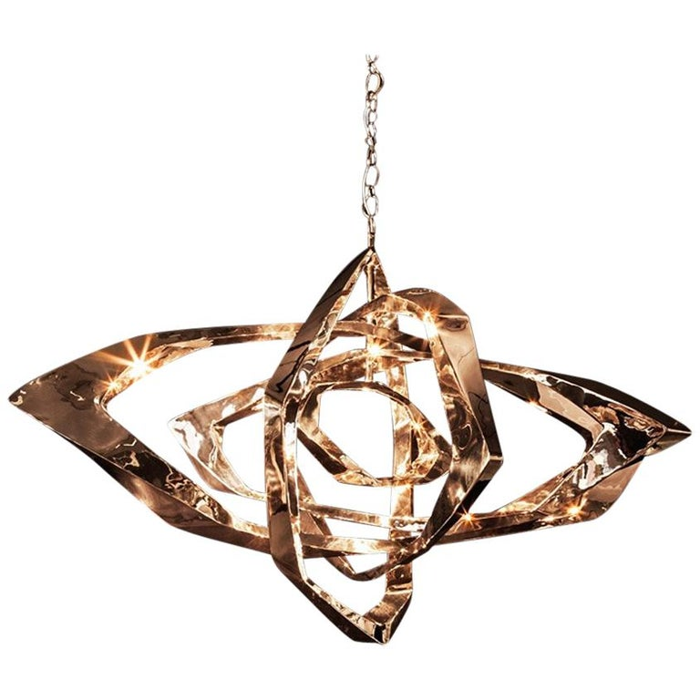 La Cage Chandelier 'Bronze' by Hudson For Sale