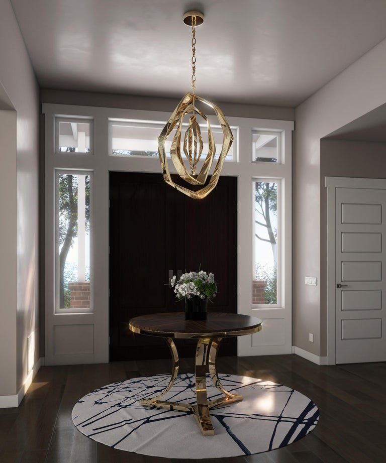 Polished La Cage Chandelier 'Oval' by Barlas Baylar For Sale