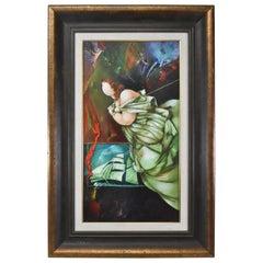 La Casa Del Poeta Abstract Oil on Canvas Tete Marella