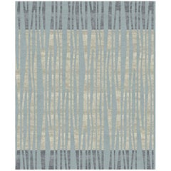 La Chapelle De Nuit Contemporary Abstract Hand-Knotted Wool and Silk 8x10 Rug
