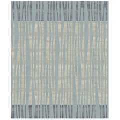 La Chapelle De Nuit Contemporary Abstract Hand-Knotted Wool and Silk Rug