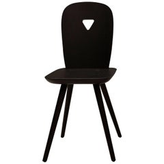 La-Dina Set of 2 Black Chairs by Luca Nichetto