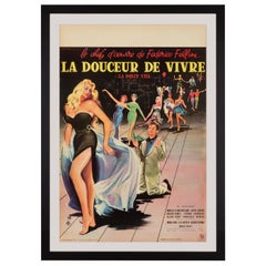 'La Dolce Vita' Original Vintage French Movie Poster by Yves Thos, 1960